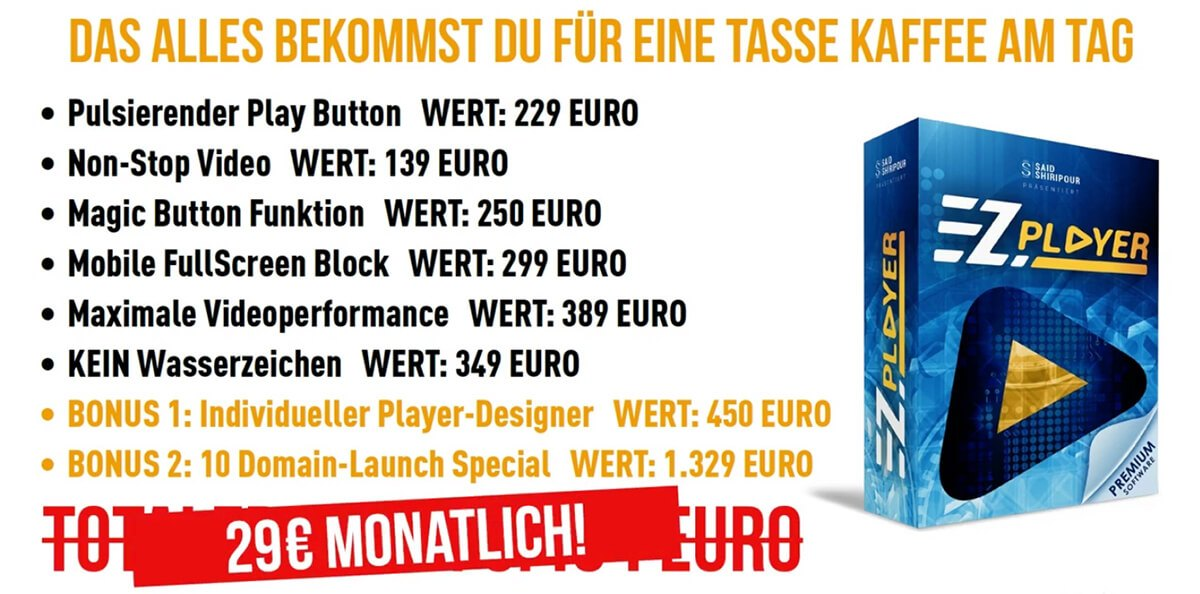 EZPlayer-Launch-Angebot von Said Shiripour