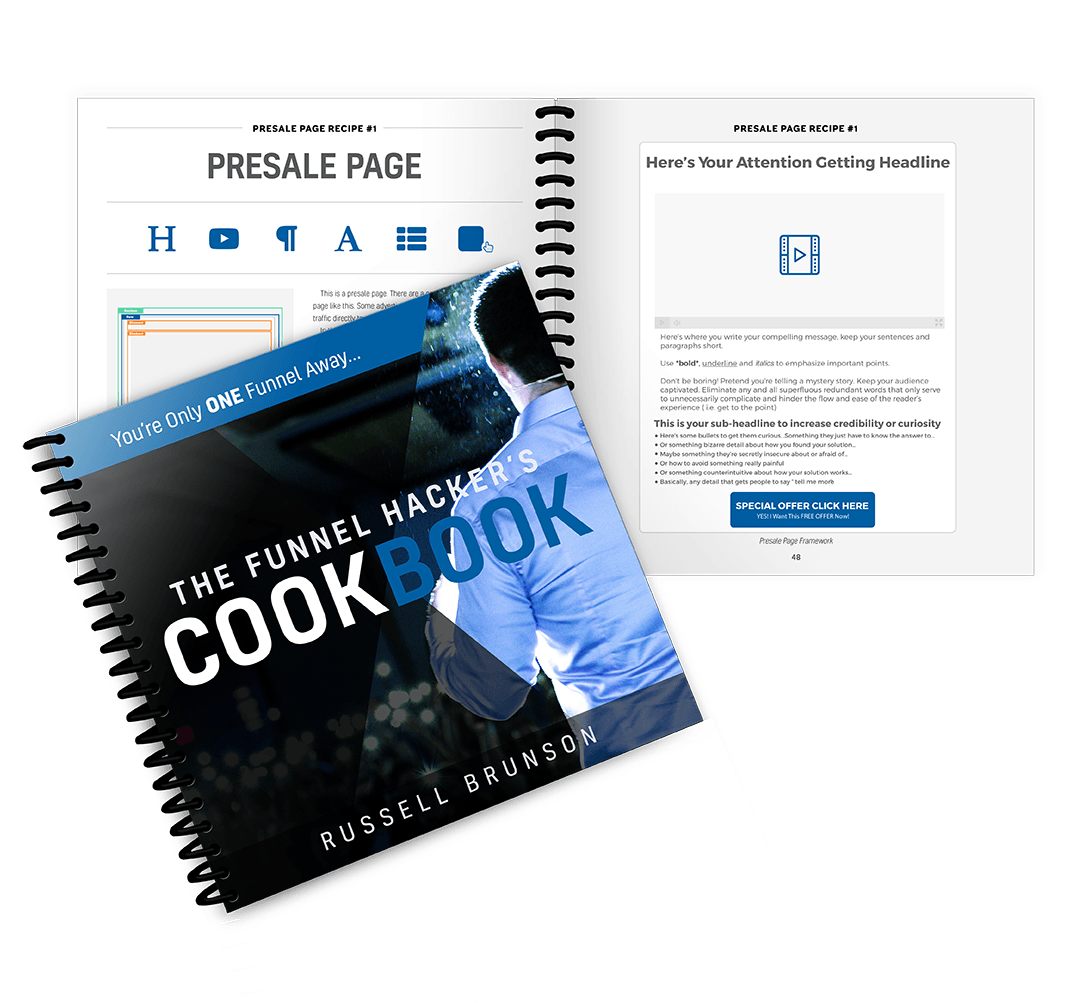 [kostenloses eBook + Printbuch] Russel Brunson: Funnel Hackers Cookbook