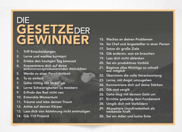 Gesetze der Gewinner - Poster
