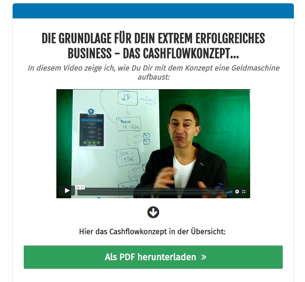 Cashflowkonzept von Eric Promm