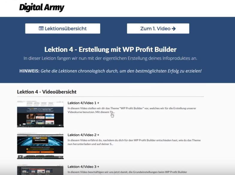 Digital Army Academy von Fritz Recknagel - Ein Einblick ins Dashboard