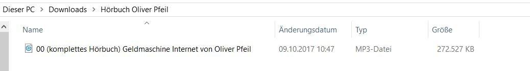 Hörbuch von Oliver Pfeil