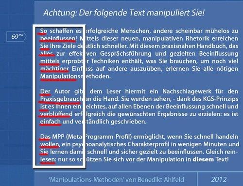 Manipulationsmethoden von Ben Ahlfeld - Beispiel