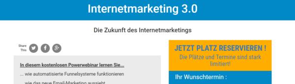 Marcel Schlee Internetmarketing 3.0