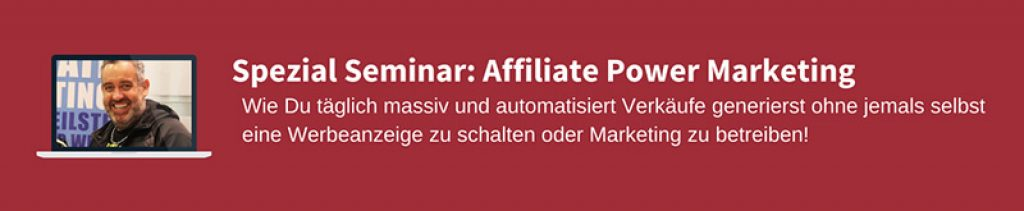 Affiliate-Power-Marketing von Ralf Schmitz