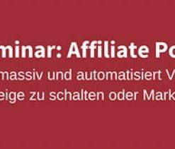 Ralf Schmitz: Affiliate Power Marketing – Spezial Seminar
