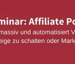 Ralf Schmitz: Affiliate Power Marketing – Spezial Seminar
