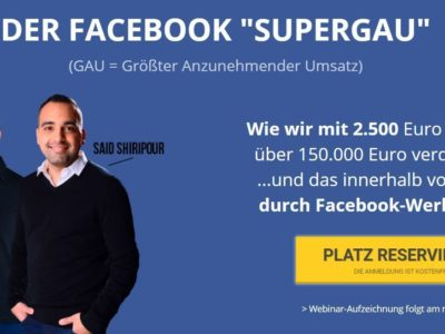 "Said Shiripour: DER FACEBOOK ""SUPERGAU"""