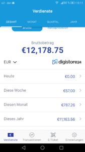 Ergebnisse Digistore basierend auf Geldmaschine 2.0