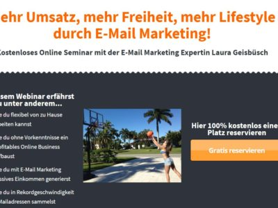 Kostenloses Online Seminar mit der E-Mail Marketing Expertin Laura Geisbüsch
