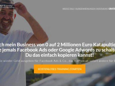 [kostenloses Webinar] Ralf Schmitz: Wie ich mein Business von 0 auf 2 Mio. Euro katapultiert habe