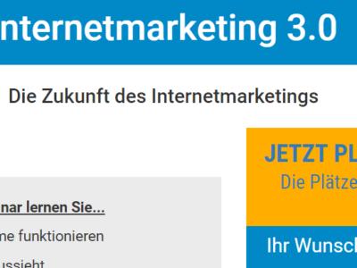 Kostenloses Webinar: Internetmarketing 3.0 – Die Zukunft des Internetmarketings von Marcel Schlee