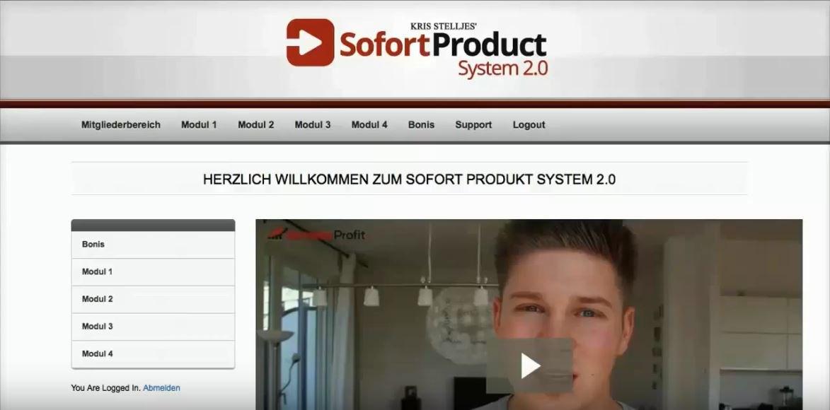 """Kris Stelljes: """"Sofort Produkt System 2.0"""""""