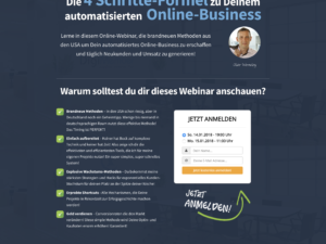Die 4 Schritte-Formel zu Deinem automatisierten Online-Business