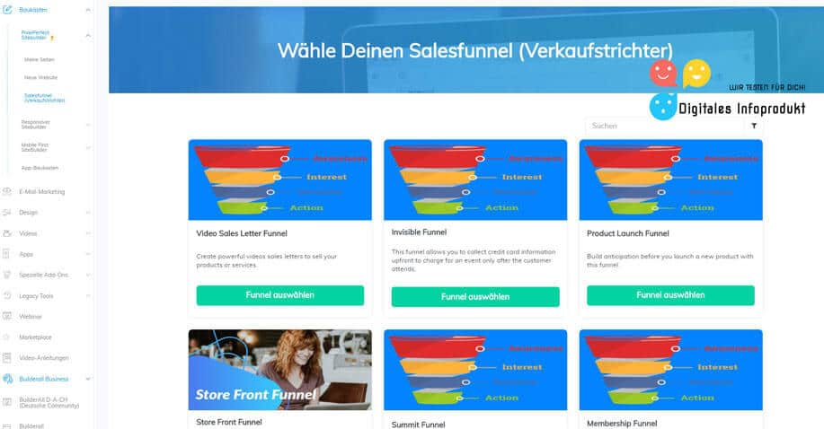 Builderall-im-Test---Ansicht-Salesfunnel