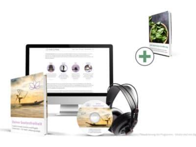 Deine Seelenfreiheit Erfahrungen. Cover und Visualisierung von eBook und Kurs.