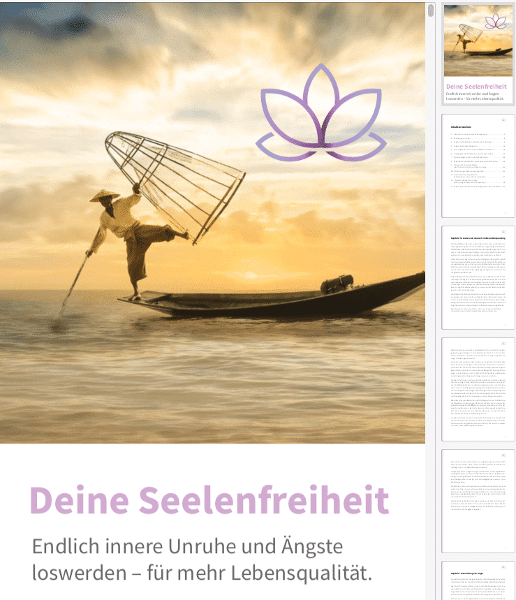 Deine Seelenfreiheit- Ein Einblick in das eBook.
