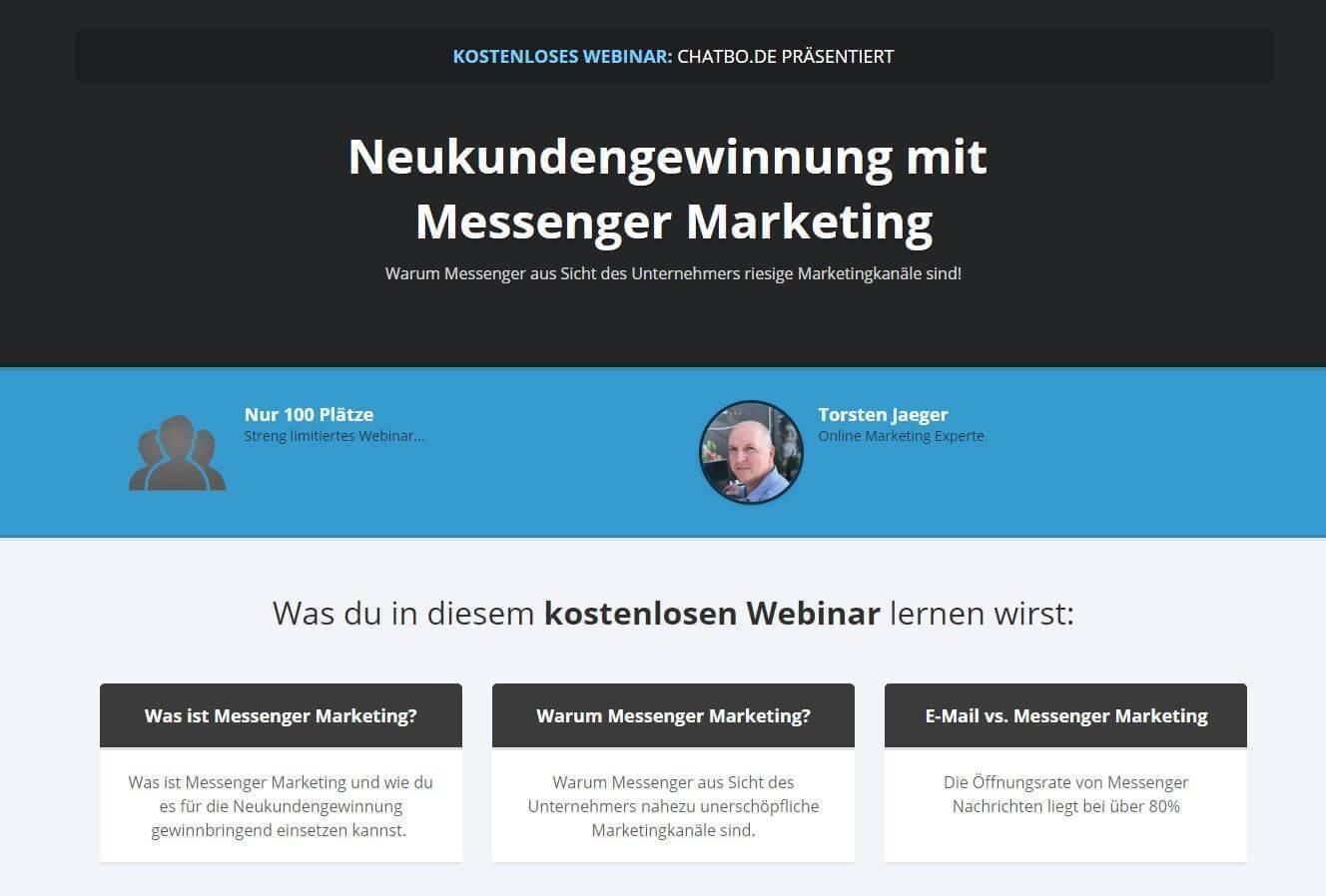 kostenloses Webinar chatbo