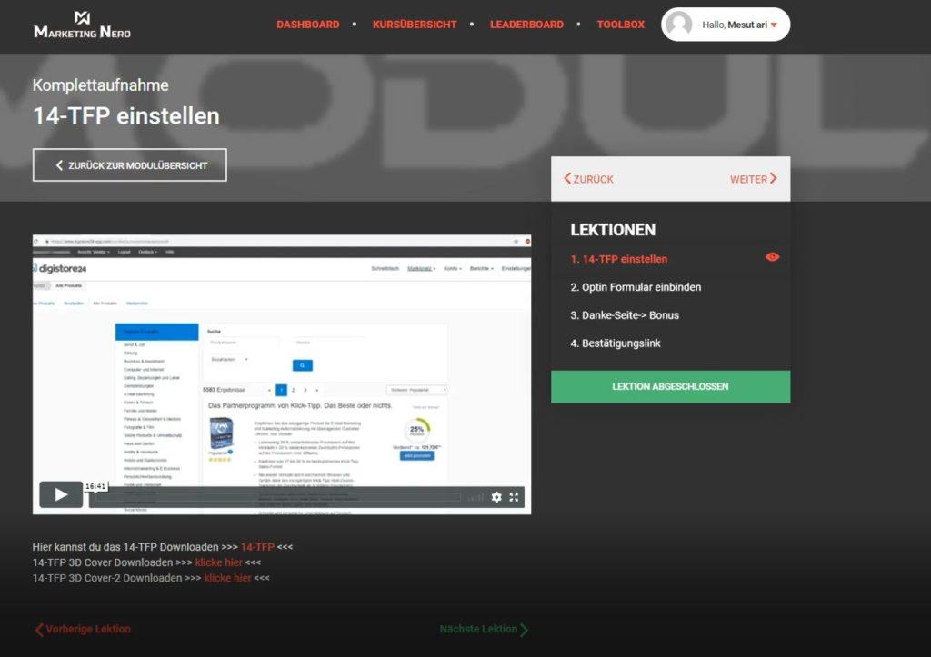 AMS - Einblick ins Affiliate Marketing System von Serkan Tastan.