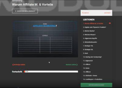 AMS - Einblick ins Affiliate Marketing System von Serkan Tastan .