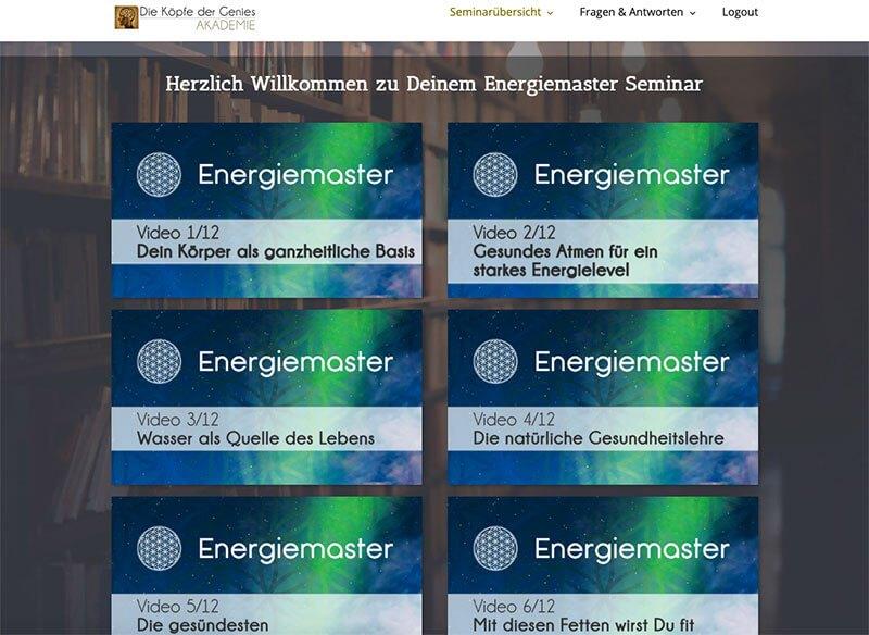 Energiemaster von Maxim-Mankevich - Einblick ins Dashboard.