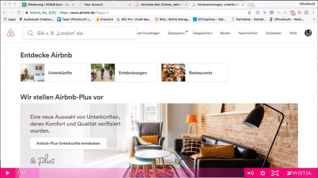 Mit airbnb um die Welt: Einblick in ein Video