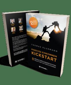 Thomas Klußmann: Passives Einkommen: Kickstart. Cover Buch.