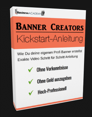 Banner Creators Kickstart Anleitung - das Cover.