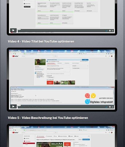 Einblick in Modul 3 vom Video Dominator von Marko Slusarek
