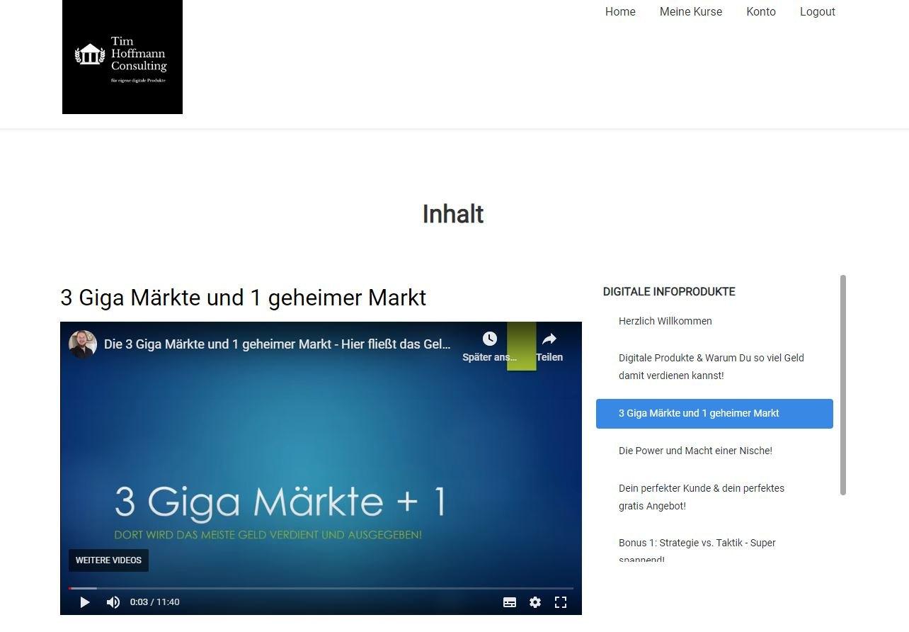 Tim Hoffmann - Intensivkurs für Einsteiger - Einblick - Gigamärkte.