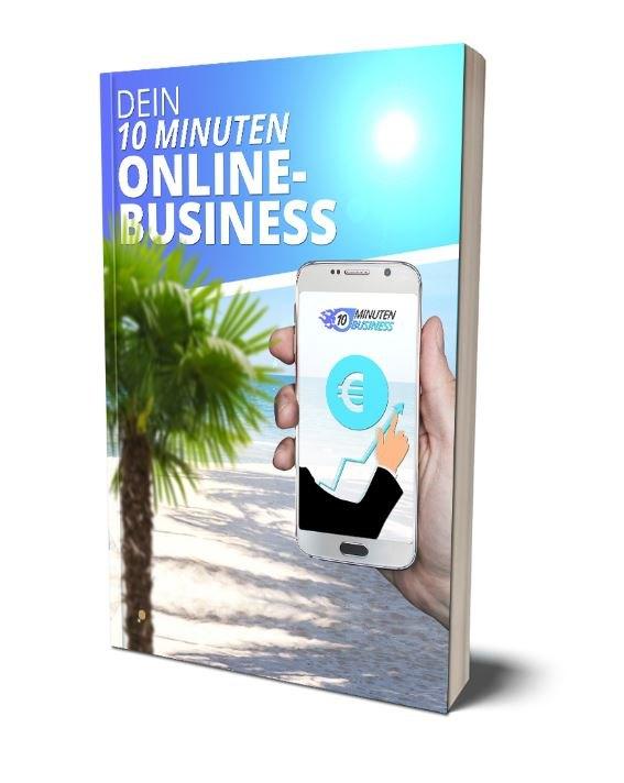 Dein 10 Minuten online Business. Coverbild.