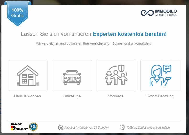 Lead Generator für Versicherungen.